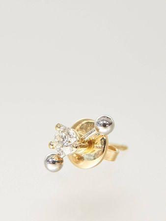 Delfina Delettrez  - Ohrring 'Two In One' mit Diamant 18K Gelb- und Weißgold grau