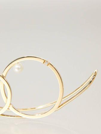 Delfina Delettrez  - Ohrschmuck 'Double Bubble' Gold grau