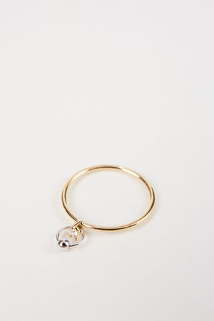Delfina Delettrez  - Ring 'Two In One' mit Diamant Gold grau