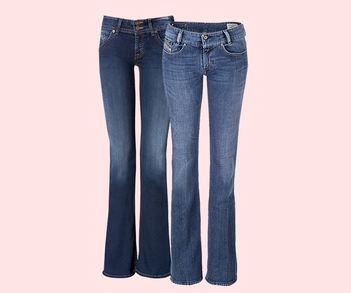 Designer Luxus Bootcut-Jeans