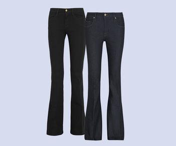 Designer Luxus Flared Leg-Jeans