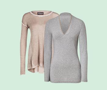 Designer Luxus Langarm-Shirts