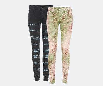 Designer Luxus Print-Jeans