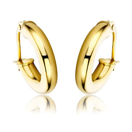 Diamada  Ohrringe  -  Creole Earring  14KT Yellow Gold  - in gelbgold  -  Ohrringe für Damen orange