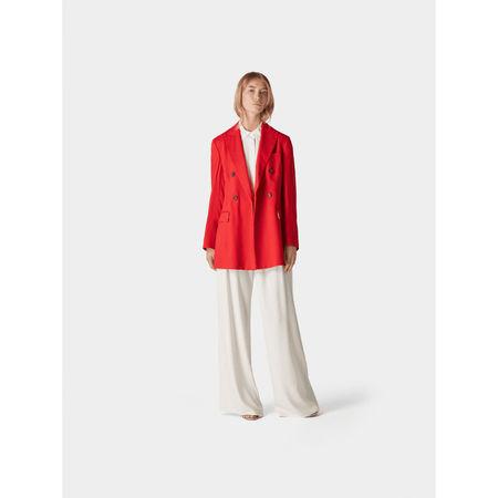 Diane von Furstenberg Bluse mit Volant grau