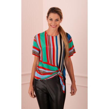 """Diane von Furstenberg  Blusenshirt """"Streifen"""" Multicolor braun"""