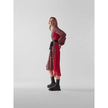Diane von Furstenberg Wickelkleid mit Plisseefalten