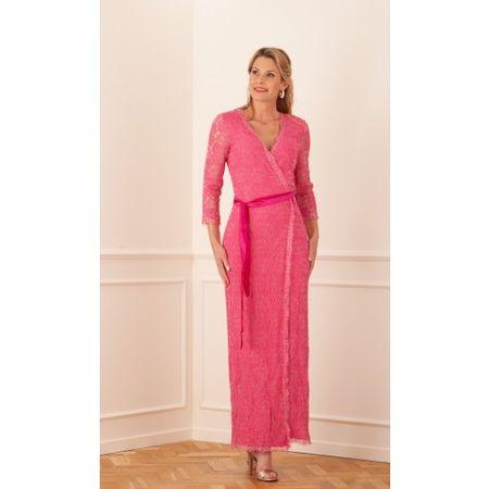 Diane von Furstenberg  Wickelkleid Pink beige