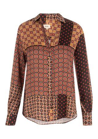 Diega Print-Bluse aus Viskose braun