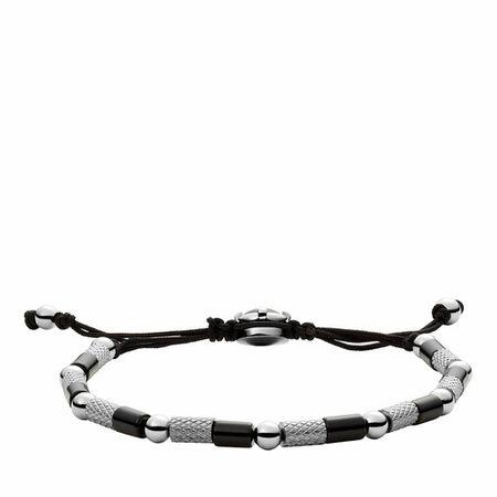 Diesel  Armbänder - Men's Stainless Steel and Nylon Beaded Bracelet DX - in silver - für Damen