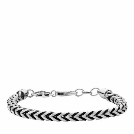 Diesel  Armbänder - Men's Stainless Steel and Nylon Chain Bracelet DX1 - in silver - für Damen