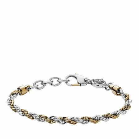 Diesel  Armbänder - Stainless Steel Braided Bracelet - in gold - für Damen grau