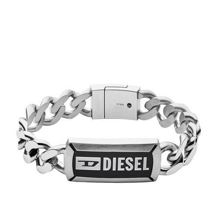 Diesel  Armbänder - Stainless Steel Chain ID Bracelet - in silver - für Damen