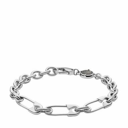 Diesel  Armbänder - Stainless Steel Safety Pin Bracelet - in silver - für Damen