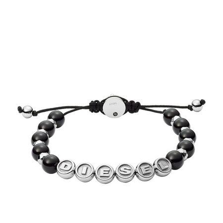 Diesel  Armbänder - Stainless Steel Semi-Precious Beaded Bracelet - in black - für Damen