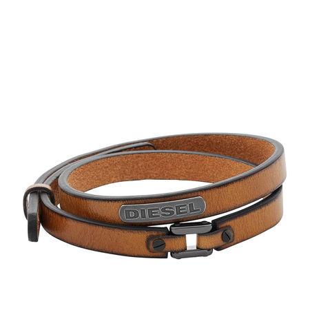 Diesel  Armband  -  Bracelet DX0984040 Brown  - in cognac  -  Armband für Damen braun