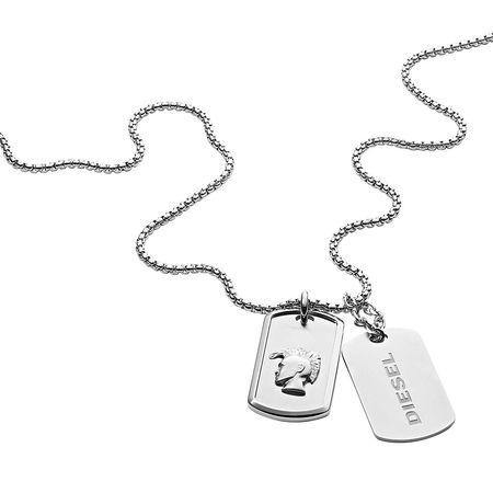 Diesel  Halskette  -  Necklace DX1210040 Silver  - in silber  -  Halskette für Damen grau