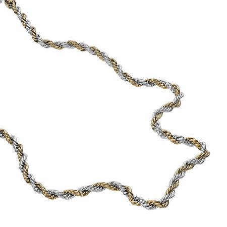 Diesel  Halsketten - Stainless Steel Braided Necklace - in gold - für Damen braun