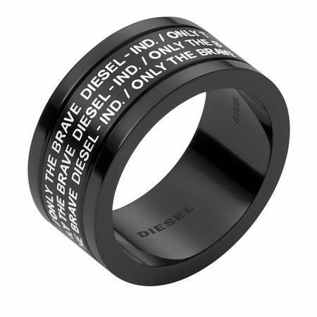 Diesel  Ringe - Stainless Steel Ring - in schwarz - für Damen