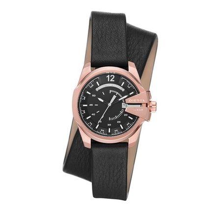 Diesel  Uhr - Baby Chief Three-Hand Date Leather Watch - in black - für Damen