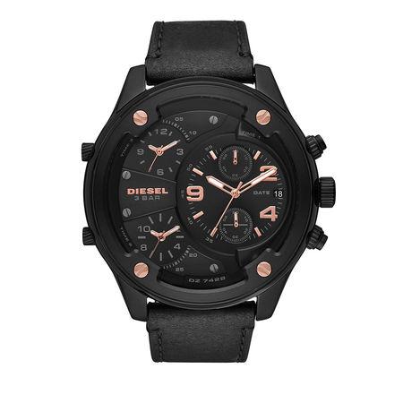 Diesel  Uhr - Boltdown Chronograph Leather Watch Black - in schwarz - für Damen