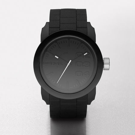 Diesel  Uhr  -  DOUBLE DOWN S44 SCHWARZ  - in schwarz  -  Uhr für Damen grau