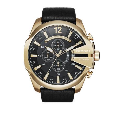 Diesel  Uhr - MEGA CHIEF GOLD - in schwarz - für Damen
