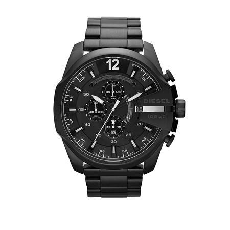 Diesel  Uhr - MEGA CHIEF SCHWARZ - in schwarz - für Damen