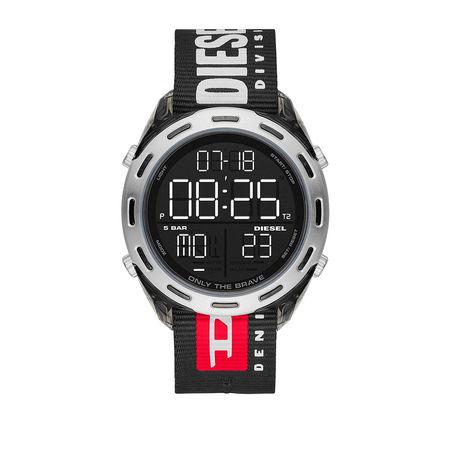 Diesel  Uhr  -  Watch Crusher Smoke  - in schwarz  -  Uhr für Damen schwarz