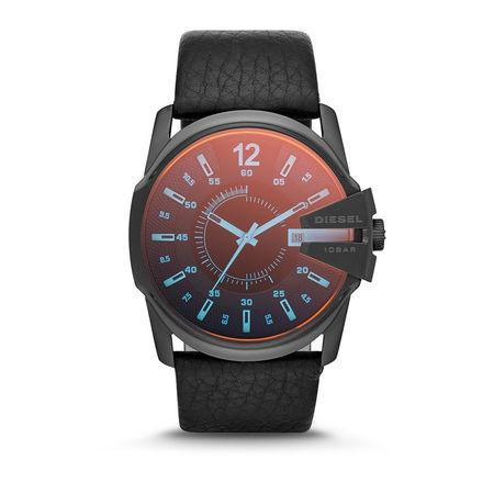 Diesel  Uhr  -  Watch Master Chief DZ1657 Black  - in schwarz  -  Uhr für Damen grau