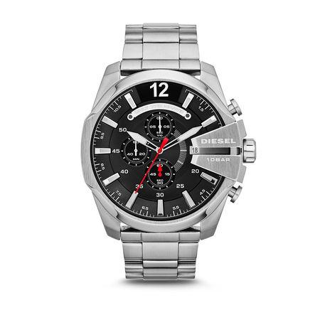 Diesel  Uhr  -  Watch Mega Chief DZ4308 Silver  - in silber  -  Uhr für Damen grau