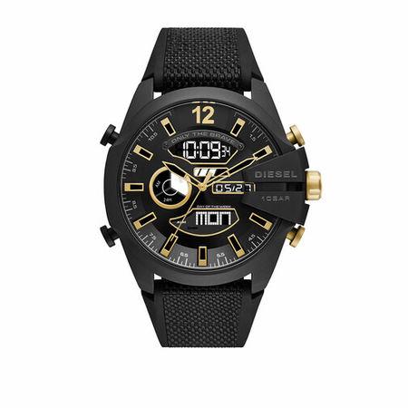 Diesel  Uhren - Mega Chief Analog-Digital Nylon and Silicone Watch - in black - für Damen