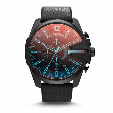 Diesel  Uhren - Mega Chief Chronograph Leather Watch - in black - für Damen