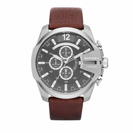 Diesel  Uhren - Mega Chief Chronograph Leather Watch - in brown - für Damen