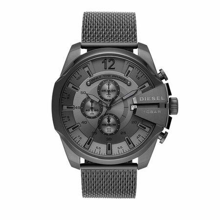 Diesel  Uhren - Mega Chief Chronograph Stainless Steel Watch - in grau - für Damen