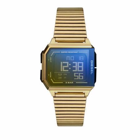 Diesel  Uhren - Men's Chopped Digital Stainless Steel Watch, DZ196 - in gold - für Damen