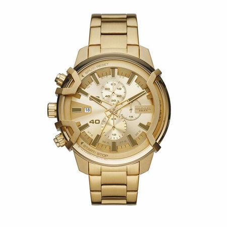 Diesel  Uhren - Men's Griffed Chronograph Stainless Steel Watch, D - in gold - für Damen