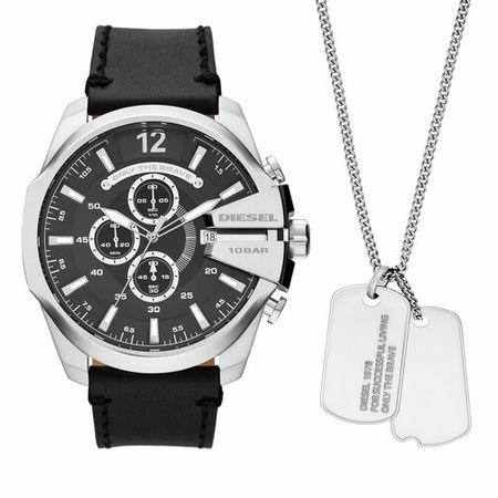 Diesel  Uhren - Men's Mega Chief Chronograph Stainless Steel Watch - in black - für Damen