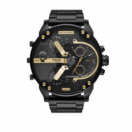 Diesel  Uhren - Mr. Daddy 2.0 Chronograph Stainless Steel Watch - in schwarz - für Damen