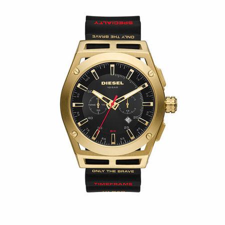 Diesel  Uhren - Timeframe Chronograph Silicone Watch - in schwarz - für Damen schwarz