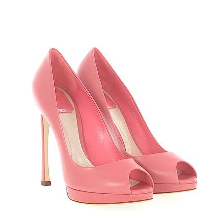Dior Peeptoes Kalbsleder  Lammleder rosé rot