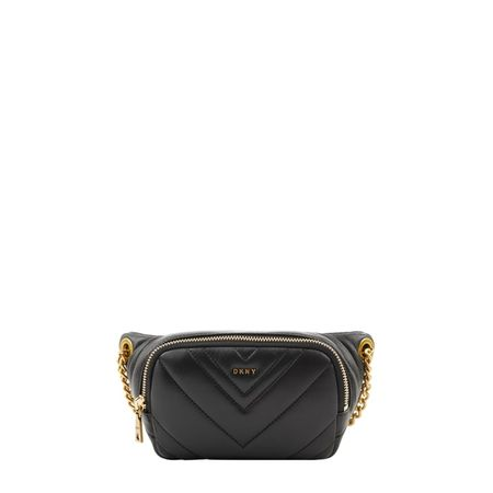 DKNY Bauchtasche aus Leder Modell 'Vivian' grau