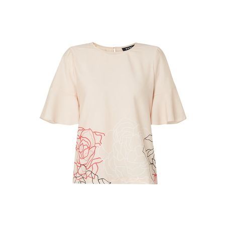 DKNY Blusenshirt mit floralem Muster braun