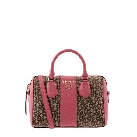 DKNY Bowling Bag aus Leder und Textil rot