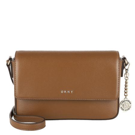 DKNY  Crossbody Bags - Bryant Medium Flap Xbody - in cognac - für Damen