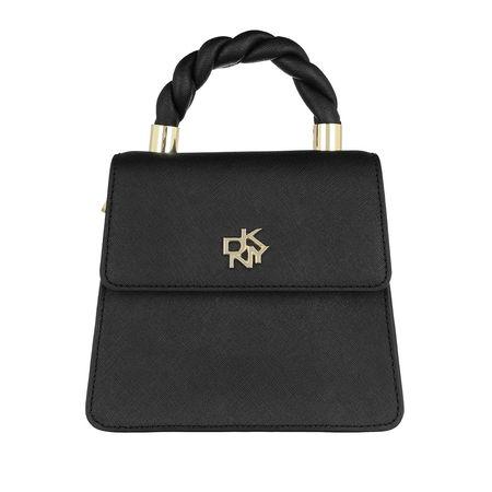DKNY  Crossbody Bags - Carol Top Flap Crossbody Leather - in schwarz - für Damen grau