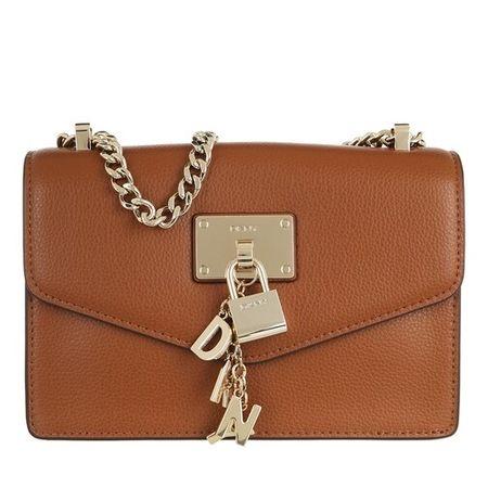 DKNY  Crossbody Bags - Elissa Sm Shldr Flp - in cognac - für Damen