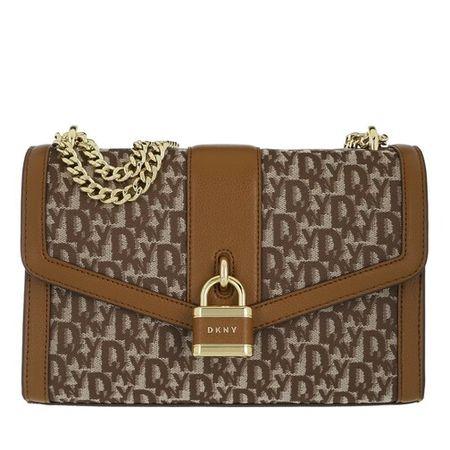 DKNY  Crossbody Bags - Ella Large Shoulder Flap - in braun - für Damen