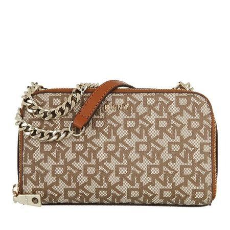 DKNY  Crossbody Bags - Felicia Double Zip Crossbody - in cognac - für Damen