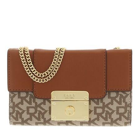 DKNY  Crossbody Bags - Lilian Mini Box Satchel - in cognac - für Damen